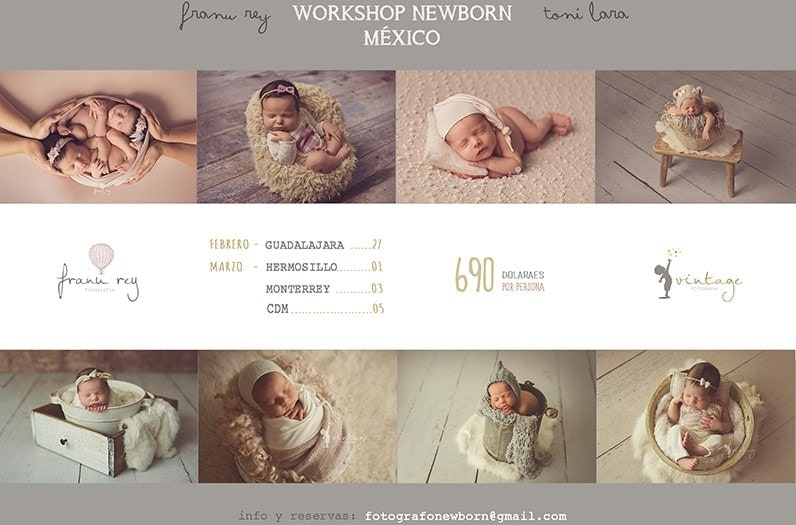 WORKSHOP FOTOGRAFIA NEWBORN MÉXICO